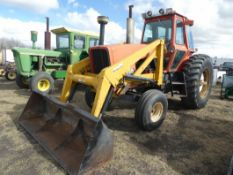 ALLIS CHALMERS 7010 TRACTOR W/ EZEE-ON 100 FRONT END LOADER W/ POWER SHIFT TRANSMISSION, 6700HR