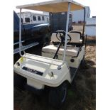CLUB CAR GAS POWERED GOLF CART S/N AG9132254635 W/NEW BRAKES, BATTERY, REAR SEAT
