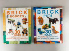 "x2 lego books - ""Brick Robots"" and ""Brick Pets"" - Shepherd's Fold"