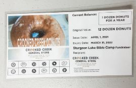 Donuts - 1 Dozen Donuts for a Year (12 dozen Donuts) - Crooked Creek
