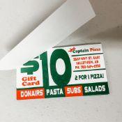 Gift Certificate - Captain Pizza $30 (Valleyview) x3 @ $10 each - Todd Lowen