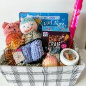 Kids Gift Basket - Handmade Dolls, Book, Chalk, Bubbles, Lollipop - Addy Oberlin & Little Smoky Gift