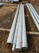 L/O 4 - GALV. STEEL LIGHT POLE EXTENSIONS - 13 FT
