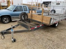 2018 CERTIFIED CUSTOM TRAILERS 7X12 FT S/A TRAILER W/EXTENDED HITCH, S/N 2P9UE2313J1057016