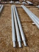 L/O 3 - GALV. STEEL LIGHT POLE EXTENSIONS - 13 FT