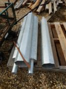 L/O 4-GALV. STEEL LIGHT POLE EXTENSION - 36 INCH