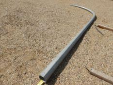 1-GALV. STEEL LIGHT POLE RADUISED EXTENSION-16 FT