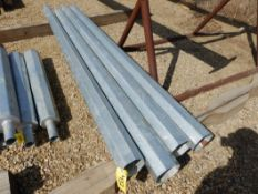 L/O 4 - GALV. STEEL LIGHT POLE EXTENSIONS - 8 FT