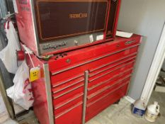 SNAP-ON 12-DRAWER TOOLBOX WITH UPPER SHOWCASE UNIT