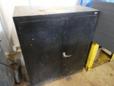 3-TIER STEEL LOCKING CABINET W/DOORS 36IN W X 43IN H X 20IN D