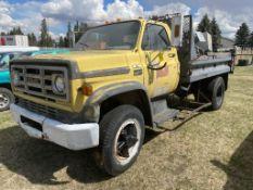 GMC SIERRA 6000 S/A GRAVEL TRUCK, V8, 69762KM SHOWING, S/N T16DA9V620546
