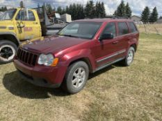 2008 JEEP GRAND CHEROKEE SUV W/4WD, 4DR CLOTH INT., GOOD RUBBER,