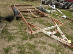 T/A RV TRAILER FRAME AND WHEELS - NO VIN