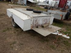S/A UTILITY TRAILER W/ SIDE BOXES 96INCH X 78INCH - NO VIN