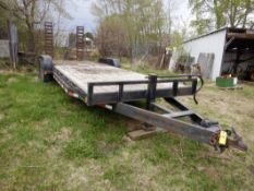 2007 PJ TRAILERS 24 FT X7 FT T/A MID-AXLE14000 LB EQUIPMENT TRAILERW/ RAMPS, S/N 4P5CC242671100092