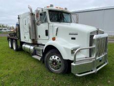 1998 KENWORTH T800 T/A TRUCK CUMMINS N14-460E 13 SPEED TRANS., 263,000KM'S SHOWING, W/ PTO