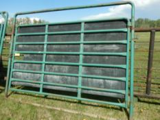 MORAND HD BUFFALO FRAME GATE - 12 FT W/BLACK RUBBER BLIND