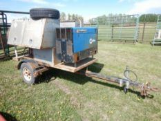 1999 PARK TRAILER FLAT DECK W/MILLER TRAIL BLAZER 302 WELDER WITH CABLES, TOOL BOXES, TRI-STANDS,