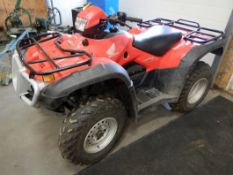 2008 HONDA FORMAN ES 4X4 ATV MODEL TRX420FE S/N 1HFTE31M484300328