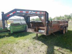 2011 PJ 16 FT T/A DUMP TRAILER W/ROLL-OVER TARP S/N 4P5D91629B1149001