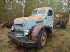 1949 IHC KB-8 S/A CAB & CHASSIS S/N 1687? W/406 RED DIAMOND ENG. 7844 MILES – RUNNING