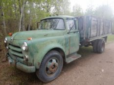 1948 DODGE JOB-RATED H 2-TON S/A TRUCK W/WOOD BOX & HOIST, (NOT RUNNING, EXTRA USED ENGINE TO BE
