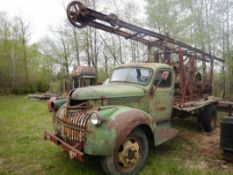 1944 CHEV S/A W/ WATER WELL POUNDER RIG