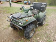 2002 KAWASAKI 650 KVF 4X4 ATV W/K-EBC W/WINCH, 5632 KM, S/N JKAVFEA182B500403