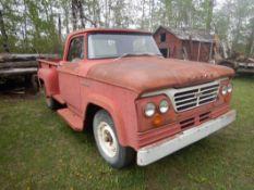 1962 DODGE 300 -1 TON TRUCK W/STEP SIDE LONG BOX, 225 SLANT 6 ENGINE, 4 SPD TRANS, S/N 2352921533