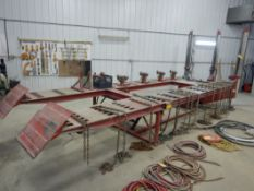 CHIEF E-Z-LINER 2-81 - 18 FT AUTOMOTIVE FRAME RACK W/3-PULLING TOWERS, 10 TON PULLING RAM,