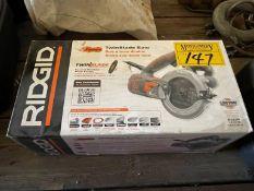 RIDGID R3250 FUEGO TWIN BLADE SAW - NEW IN BOX