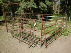 L/O ASSORTED STOCK PANELS INCLUDING FRAME GATE - (GRAY LIVESTOCK GATE NOT INCLUDED)