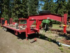 2009 KAUFMAN 30 FT GN T/A DUALLY EQUIP. TRAILER INCL. 5 FT FT BEAVER TAIL - EXCELLENT CONDITION