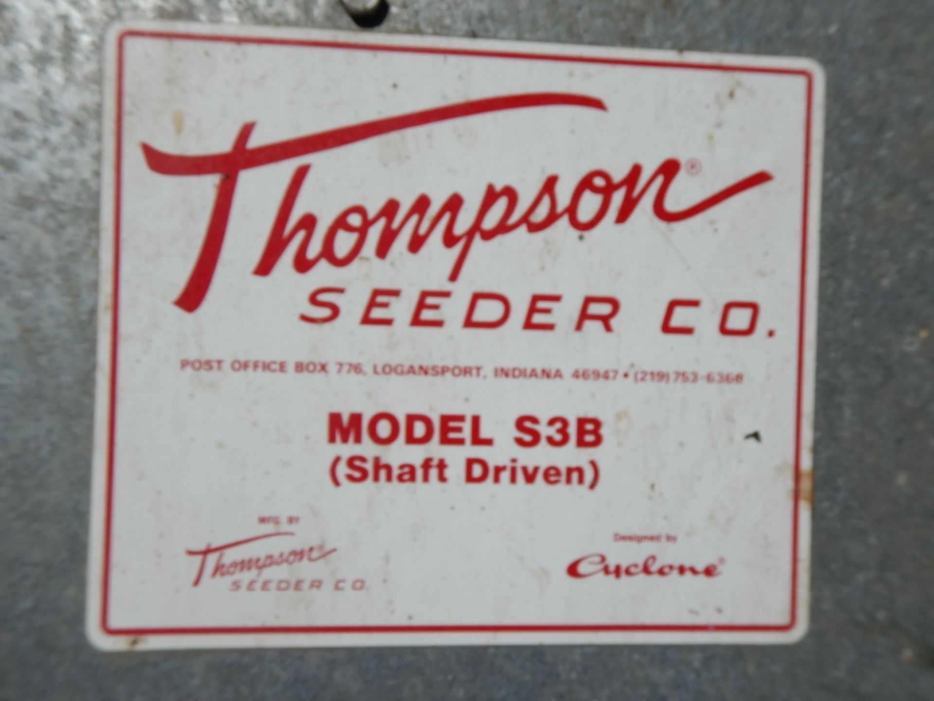 THOMPSON SEEDER CO. GRANNULAR BROADCASTER 3PT MODEL S3B - Image 2 of 5