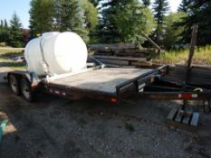 2008 MAXEY 16 FT BEAVER TAIL TRAILER W/RAMPS S/N 5R8CH182X8M009884 (POLY TANK NOT INCLUDED)