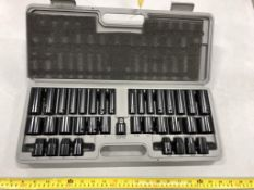 POWER FIST METRIC AND SAE 1/2IN, 3/8IN, IMPACT SOCKET SET