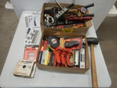 L/O WOOD STAPLERS, STAPLES, TAPE MEASURE, HOLE SAWS, DRILL BITS, DIGITAL FISH SCALE, NAIL PULLER,