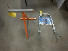 ADJUSTABLE INFEED ROOLER STAND, PR. PRO-LITE STAND OFF ARMS FOR EXTENSION LADDER