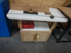 SHOP BUILT DUAL HEAD ROUTER STATION 24INX48IN W/ SKIL CLASSIC PLUNGE ROUTER AND ADJUSTABLE FENCE