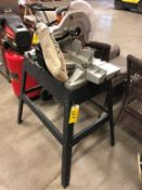 RIDGID 12IN COMPOUND MITRE SAW ON STAND