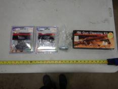 GUN CLEANING KIT, NEW CHAIN SAW BLADES