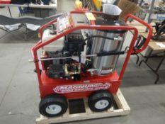EASY KLEEN 4000 PSI HOT WATER PRESSURE WASHER DIESEL FIRED, 15HP ELECTRIC START ENGINE, WHEEL KIT,