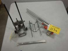 B&D ANGLE DRILL GUIDE AND ALUMINUM TABLE SAW FENCE
