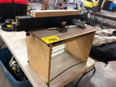 SHOP BUILT 24IN ROUTER TABLE W/ FENCE
