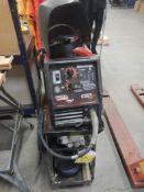 LINCOLN ELECTRIC WELD PAK 100HD MIG WELDER ON CART W/ 2-MASKS