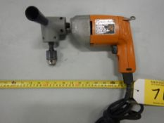 B&D ELEC. VARIABLE SPEED DRILL W/ RIGHT ANGLE DRILLING ATTACHMENT