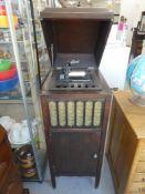 "EDISON AMBEROLA 75 PHONOGRAPH CA. 1916-1926 W/5 CYLINDERS 41.5""H 16""W 20""D"