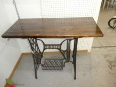 """PINE TOP SEWING MACHINE TABLE 30""""H 40.5""""W 18""""D"""