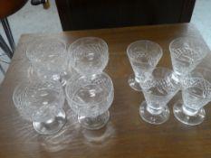 2 SETS OF 4 CRYSTAL GLASSES