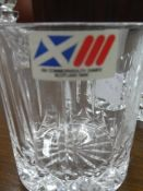 CRYSTAL PERFUME DECANTER, CRYSTAL RING HOLDER, CRYSTAL DISH & CRYSTAL SCOTCH GLASS